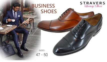 Dress Shoes in large sizes | Stravers | large men's shoes