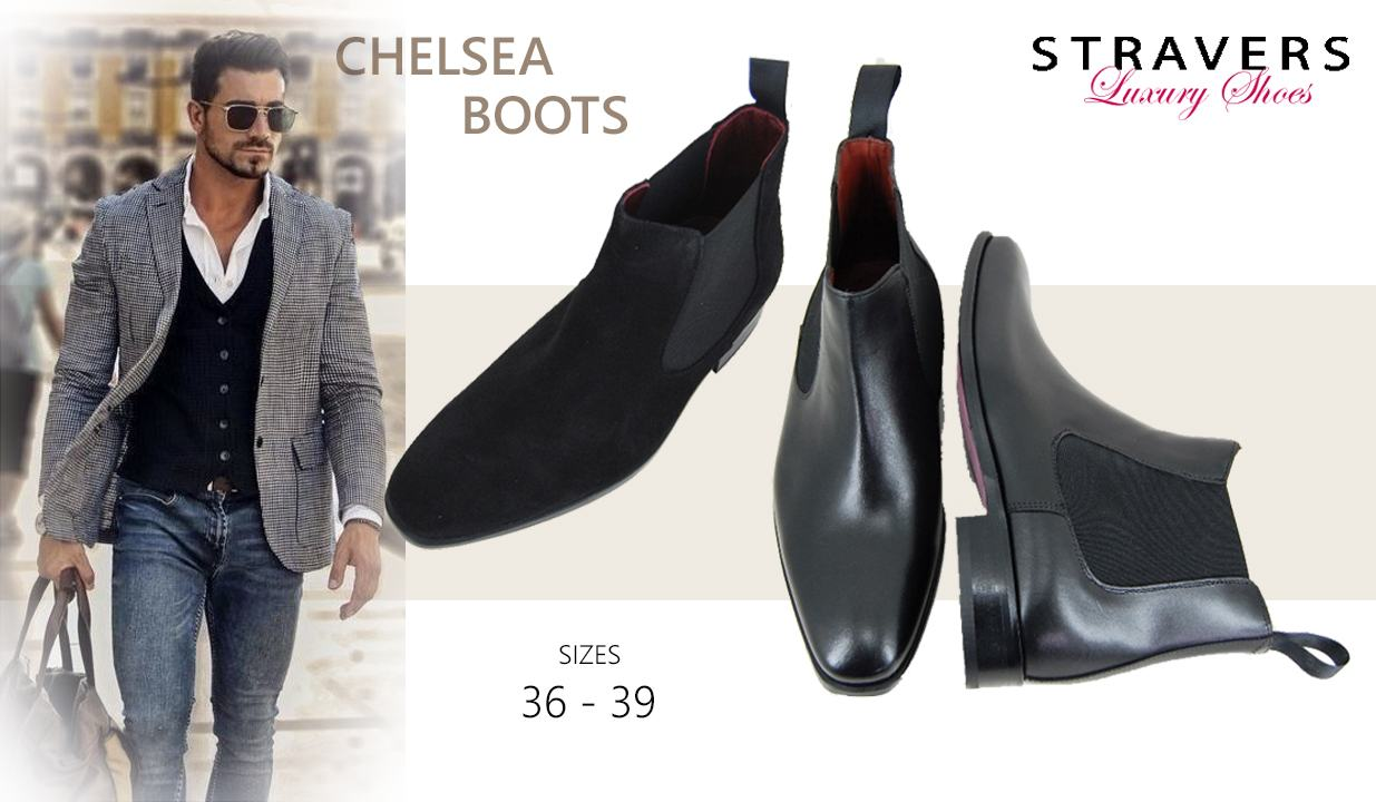 Mens Boots in small sizes | Stravers | small men's shoes