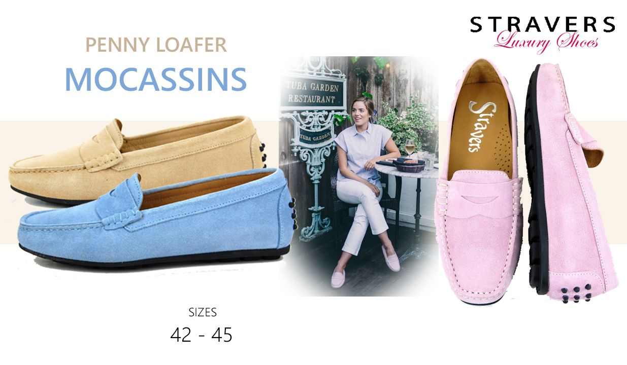 Moccasins in large sizes | Stravers | large women's shoes