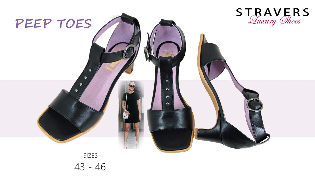Open Shoes in large sizes | Stravers | large women's shoes