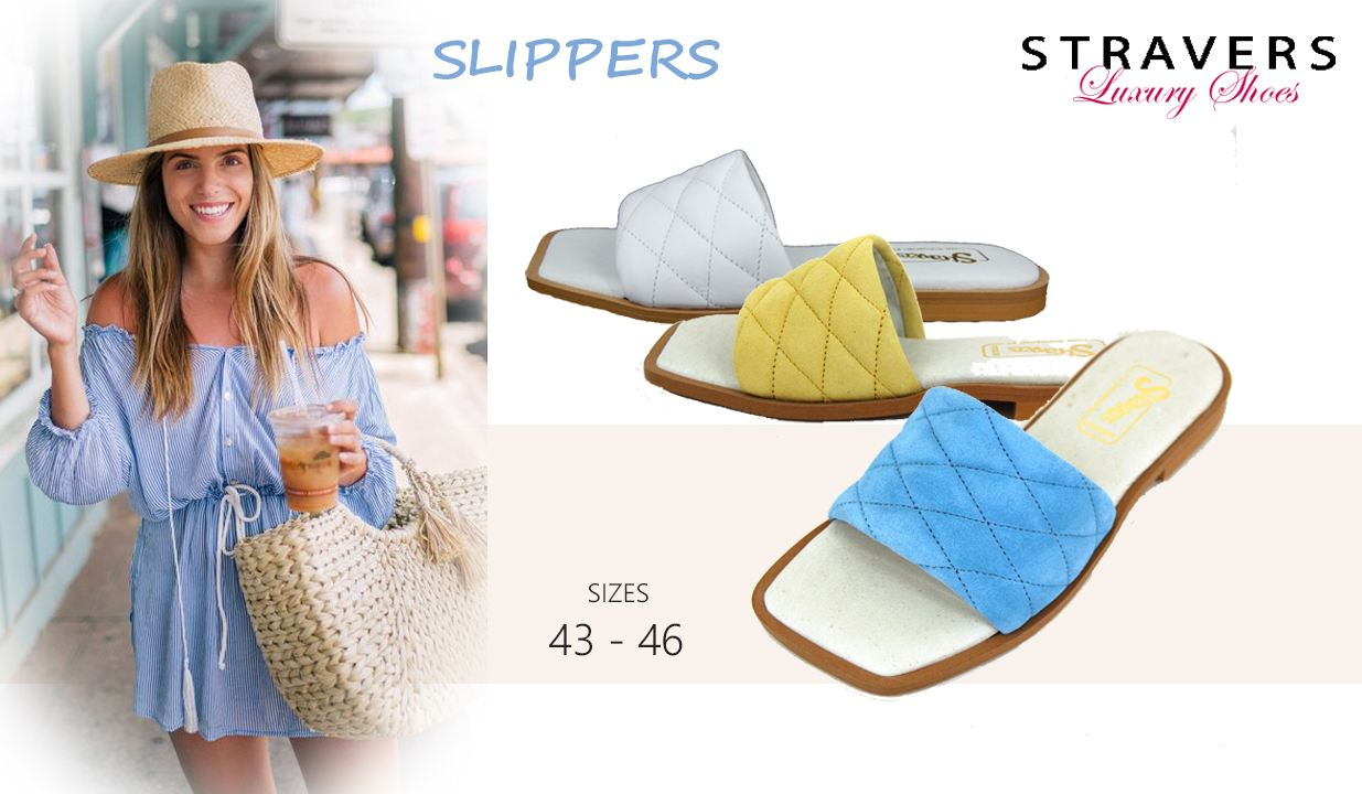 Sandals & Slippers in large sizes | Stravers | large women's shoes