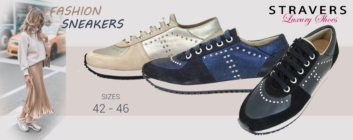 Sneakers in large sizes | Stravers | large women's shoes