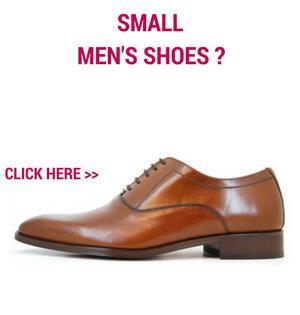 Small shoes for men