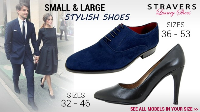 Stravers Shoes Small and Large sizes