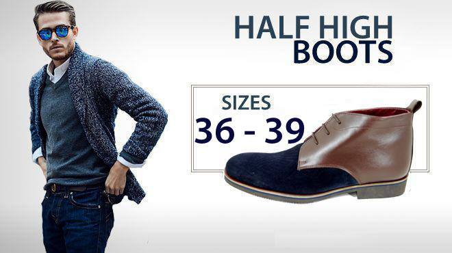 Small size men's boots half high