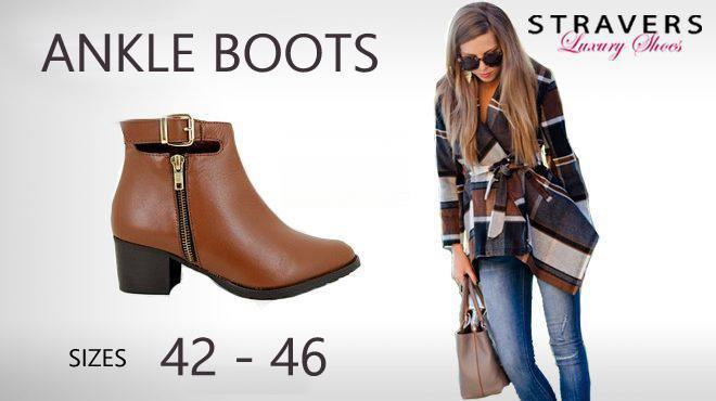 Large size women's ankle boots