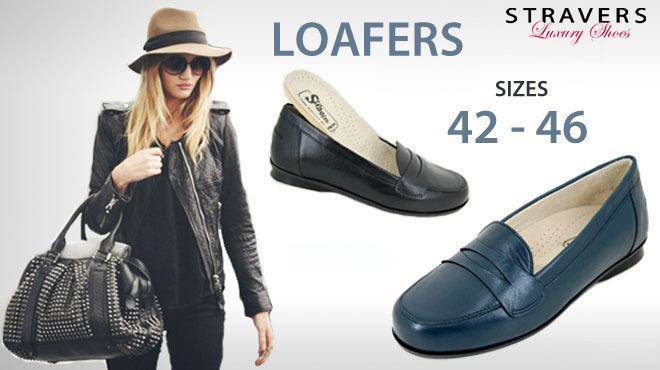 Large size women's loafers