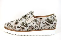 Stravers Slip-Ons - beige Floral in large sizes