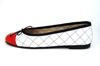 Classy ballerinas - red white blue in large sizes