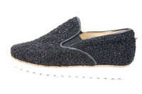 Slip-On loafers - fluffy black