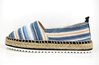Stravers espadrilles - blue beige in large sizes