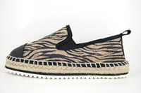 Stravers espadrilles - black beige in large sizes
