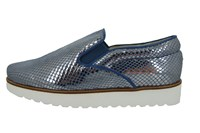 Stravers slip on sneakers woman - blue leather in small sizes