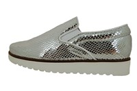 Stravers slip on sneakers - women - silver leather in small sizes