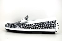 Exclusive mocassins - black and white