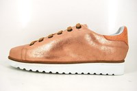Womens metallic lace up shoes - Copper in small sizes