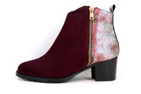 Bordeaux Ankle Boots Low Heel in small sizes