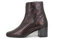 Square nose ankle boots - brown in large sizes