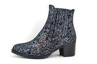 Chelsea boots - black silver in small sizes