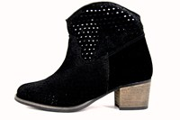 Black summer boots in large sizes