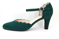 Chic strap heels - green in large sizes
