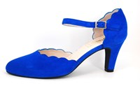 Blue strap pumps