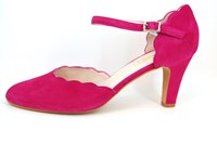 Fuchsia strap pumps in large sizes
