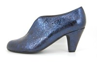 Casual Chic heels - blue metallic in small sizes