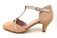 Mid heel T-strap shoes - Maquillage pink