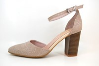Heels with ankle strap - pink...