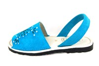 Spanish Glitter Sandals - Turquoise in small sizes
