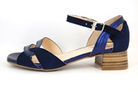 Exclusive sandals low heel - blue in large sizes
