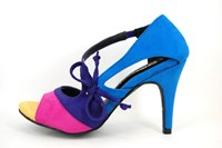 Multicolor peeptoe pumps in small sizes