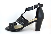 Black Sandal Heels with Ankle Strap in small sizes