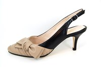 Marilyn Monroe Slingback Pumps - beige black