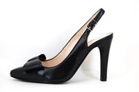 Birgit Bardot slingback - black in large sizes