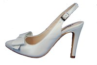 White slingback pumps - Weddingl shoes in large sizes