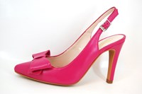 Fuchsia slingback heels in large sizes