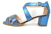 Mid heel sandals - blue in small sizes