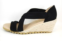 Espadrille Wedges - Black in small sizes