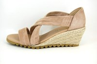 Espadrille Wedges - beige in large sizes
