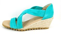 Espadrille Wedges - Turquoise