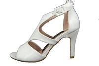 White peeptoe sandals - No Leather Shoes in large sizes