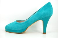 Platform peep toe heels - Emerald Green in small sizes