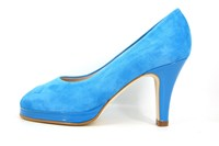 Platform peep toe heels - Serenity Blue in small sizes