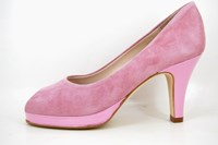 Platform peep toe heels - Rose Quartz in small sizes