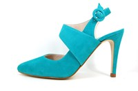Exclusive slingback heels - Lucite Green in small sizes