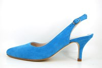 Elegant slingback heels - Diva Blue in small sizes