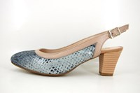 Mid heel slingback pumps - blue nude in small sizes