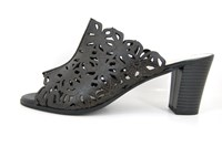 Mule heeled sandals - black in small sizes